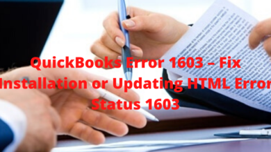 Photo of QuickBooks Error 1603 – Fix Installation or Updating HTML Error Status 1603